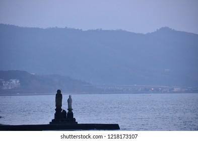 Shinjiko lake and Jizo