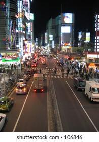 Shinjuku city night life in Tokyo Japan