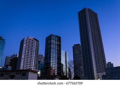Shinjuku city night view