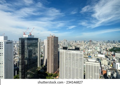Shinjuku subcenter. View from the Tokyo Metropolitan Government Building observation room.
