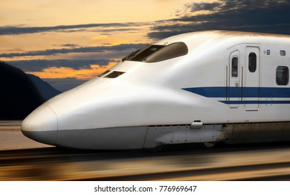 Shinkansen Bullet Train in Japan. The Shinkansen is a network of high-speed railway lines in Japan. Since the initial Tokaido Shinkansen opened in 1964 with running speeds of 210 km/h (130 mph).