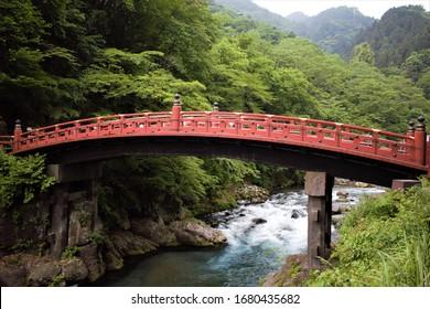 Shinkyo Bridge of Futarasan Jinja Shinto Shrine, Nikko, Tochigi Prefecture, Japan - Shutterstock ID 1680435682