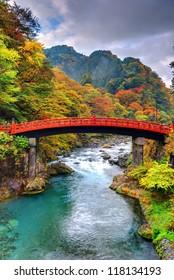 Shinkyo Bridge in Nikko, Japan.
