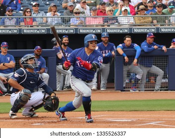 Shin-Soo Choo right fielder for the Texas Rangers at Peoria Sports Complex in Peoria, Arizona/USA March 7,2019.
