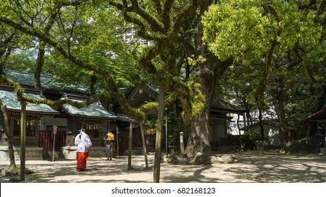 Shinto shrine in Fukuoka city Japan