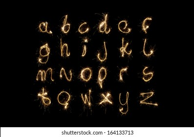 Shiny alphabet isolated on black. (see other letters in my portfolio)