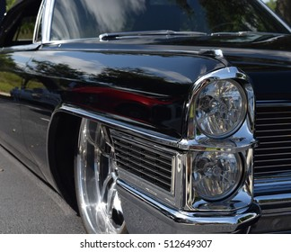 Shiny Black Vintage Car