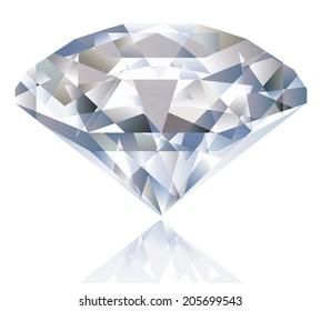 Shiny bright diamond
