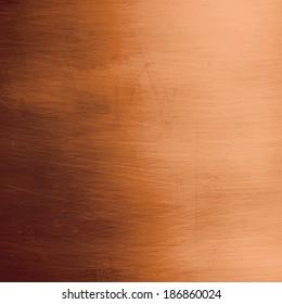 Shiny bronze metallic plate