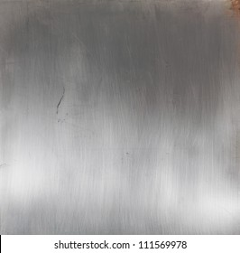 Shiny brushed silver metal surface