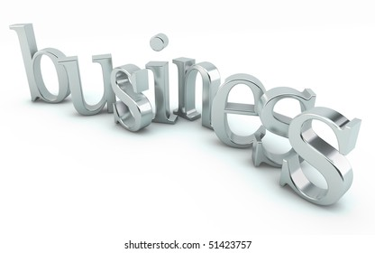 shiny business text