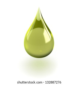 Shiny drop isolated on white background useful for oil or detergent advertising