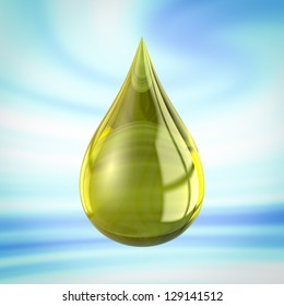 Shiny drop useful for oil or detergent advertising