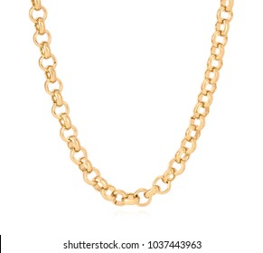 Shiny gold chain for him/her