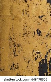 shiny Gold leaf, gold foil texture grunge background