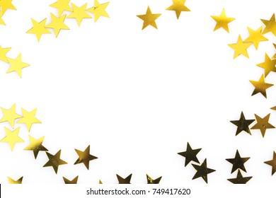 shiny gold stars frame