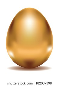 Shiny golden egg, illustration was made with gradient mesh.