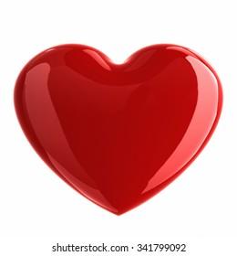 Shiny heart. 3D Render.