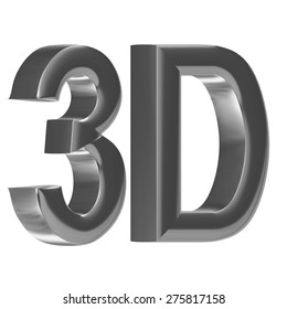 shiny metallic 3D word