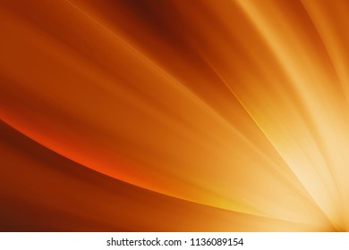 shiny orange abstract background with curve line
