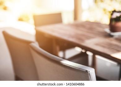 Shiny outside furniture / Exterior