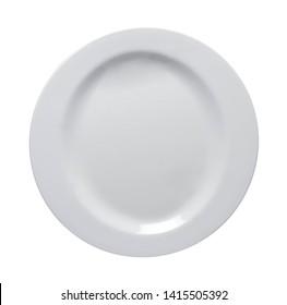 shiny plate isolated on white bacground