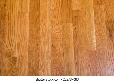 A shiny, polished hardwood floor for background or texture