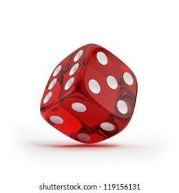 Shiny red dice