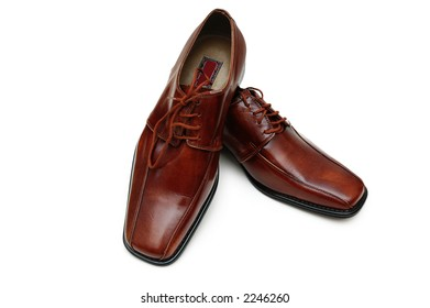 Shiny shoes isolated on the white background