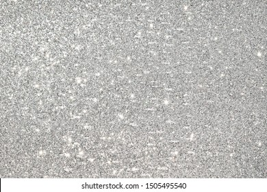 shiny of silver glitter abstract background
