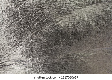 shiny silver metallic leather background texture