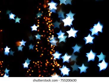 Shiny star with black background