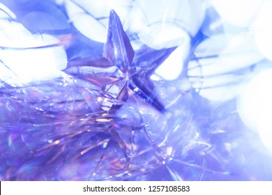 shiny star. christmas or new year decoration. abstract background