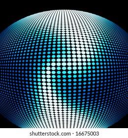 Shiny technology globe