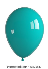 shiny turquoise balloon
