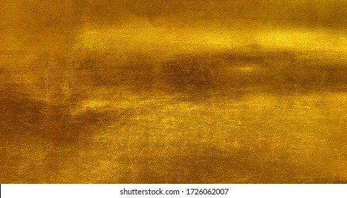 Shiny yellow leaf gold foil texture background - Shutterstock ID 1726062007