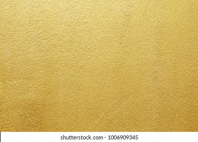 Shiny yellow leaf gold of wall texture background