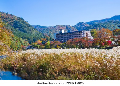 Shiobara Onsen is a hot spring town, located in Tochigi prefecture. The town is fairly developed with several large hotels, it is surrounded by woods and mountains.