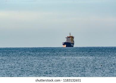 Ship arriving Koper - Slovenia