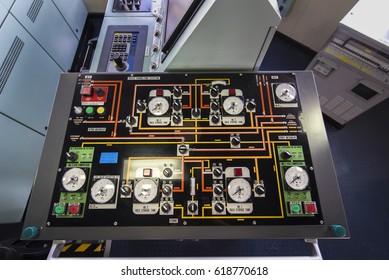 Ship bulk control panel on tanker