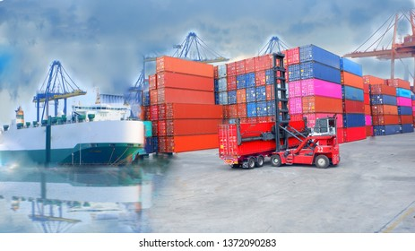 Ship by container by ship