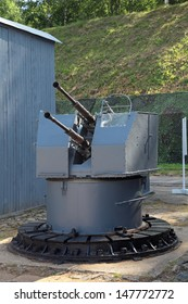 The ship cannon at the military landfill