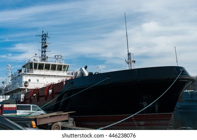 ship comprehensive port services  Tied to Dock By Rope, Baltiysk, Russia