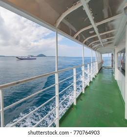 Ship deck Jeju Island