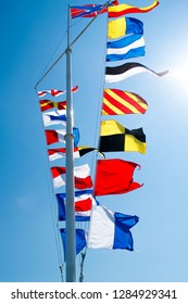 ship flags, signals, morse code