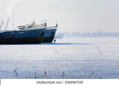 Ship in the frozen sea