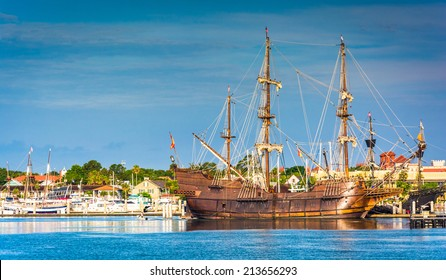 Ship in the harbor at St. Augustine, Florida.