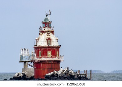 Ship John Shoal Lighthouse in Delaware Bay.
