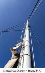 Ship mast of the Hype Boat Club catamaran