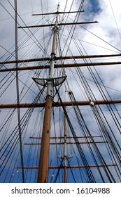 Ship Mast with Lookout Platform